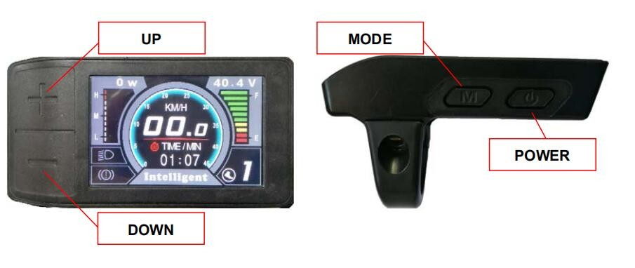 Greenpedel 500C TFT Electric Bike Colorful LCD Display